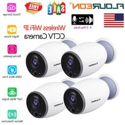 1/2/4-Pack 720P HD Wireless WIFI Security IP Camera Battery