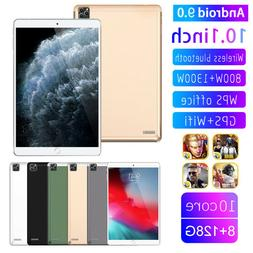 """10.1""""4G-LTE/WiFi Tablet PC 8+128GB Android 9.0 Pad Dual SIM"""
