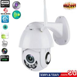 1080P HD Waterproof Outdoor WiFi PTZ Pan Tilt Security IP IR