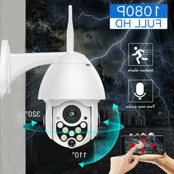 1080P HD Wireless Wifi Dome IP Camera PTZ Night Vision Outdo