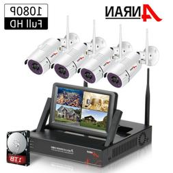 1080P WIFI Wireless Home CCTV Security Camera System Outdoor