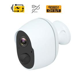 1080p wireless security camera indoor outdoor rechargeable