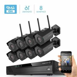 Amcrest 16CH 4K NVR 8X IP 4MP Security Camera System Bullet