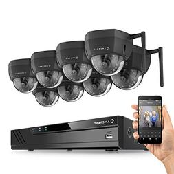Amcrest 16CH 2MP 1080P Security Camera System, 6MP NVR,  x 2