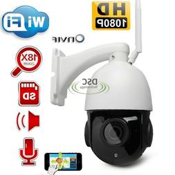 PTZ IP/WiFi Camera 2MP Super HD Pan/Tilt 18x Zoom Dome Camer