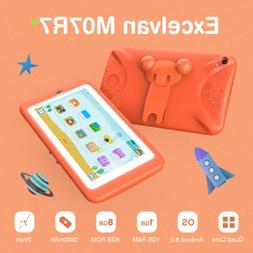 Excelvan 1GB+8GB Tablet PC Kids 7'' Android 2*Cameras BT WiF