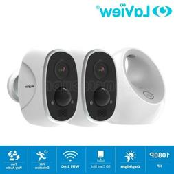 2 Camera HD 1080P Wireless Security Wifi IP Outdoor Recharge