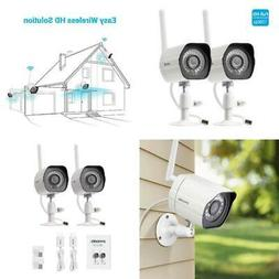 2 Pack Full HD Outdoor Wifi wireless Home Surveillance Camer