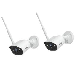 ZOSI 2PCS Outdoor Wireless IP Camera HD 1080p Onvif Security