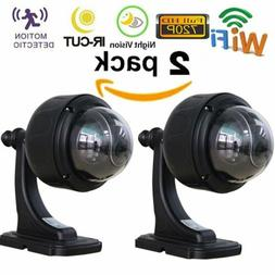 2X Sricam Outdoor PTZ 720P Wireless Wifi IP Dome Camera CCTV