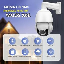 30X ZOOM 1080P HD In/ Outdoor 360° PTZ IP Speed Dome Camera