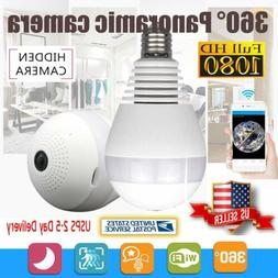 360 Degree Panoramic 1080P HD Hidden Wifi Camera Light Bulb