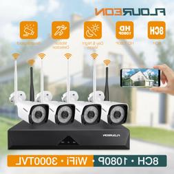 8CH Wireless 1080P HD NVR DVR CCTV Outdoor Indoor WiFi Camer