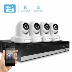 Amcrest 3MP Security Camera System 4K 8CH NVR 4 x 3MP Dome W