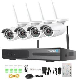 4-Channel 1080P NVR Outdoor WIFI IR-CUT Camera CCTV Home Sec