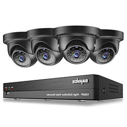 SANNCE 4CH 1080P Video DVR Recorder and  HD 1080P Outdoor Me