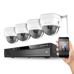 Amcrest 4CH 2MP 1080P Security Camera System w/ 6MP NVR,  x