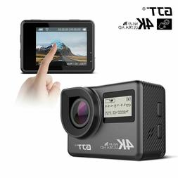 GJT 4K Touchscreen Action Camera WiFi Dual Screen 12MP HD Wa