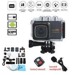 4K WiFi EIS 1080P H.264 Pro Action Camera DVR with Mic + Rem