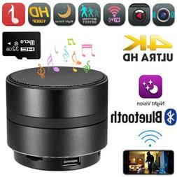 4K WIFI Hidden Spy Camera Bluetooth Speaker Video Recorder S