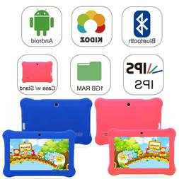 "7"" Android 4.4 Tablet PC For Kid Quad Core Dual Cameras WiFi"