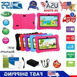 "7"" Kids Tablet Android 8.1 PC Dual Cameras WiFi 8GB Bundle C"