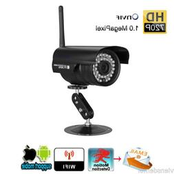 720P WLAN Wireleess Outdoor CCTV WiFi IP Cameras 1MP ONVIF H