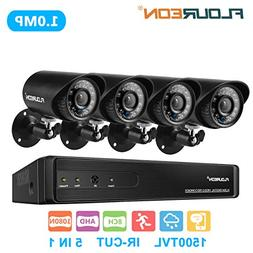 floureon 8 CH House Camera System DVR 1080N AHD + 4 Outdoor/