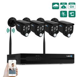 8-Channel 1080P HDMI NVR Outdoor 720P CCTV PIR WIFI Camera H