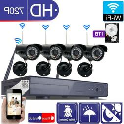 8-Channel NVR Outdoor IP66 Waterproof IR-CUT WIFI P2P Camera