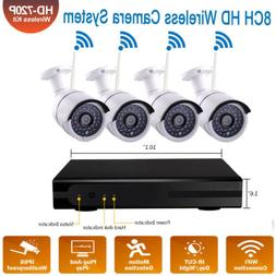 8-Channel Wireless DVR Outdoor IR-CUT HD CCTV WiFi Camera Se