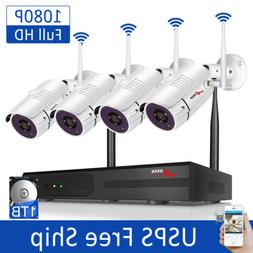 ANRAN Wireless Security Camera System Home Outdoor 8CH 1080P