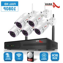 ANRAN 8CH 1080P NVR Security Camera System Wireless 2.0MP CC