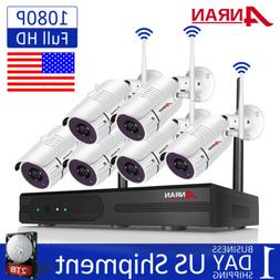 8CH CCTV Security Cameras System Outdoor Wireless Home Surve