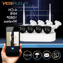 4CH Wireless CCTV 1080P DVR Outdoor WIFI IP Camera Security