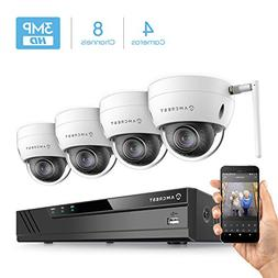 Amcrest 8CH 3MP Security Camera System w/ 4K  NVR,  x 3-Mega