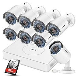 ANNKE 8CH 1080P HD Simplified POE NVR Security Camera System