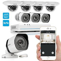 Zmodo 8CH Smart PoE Surveillance Camera System 4 x720P Outdo
