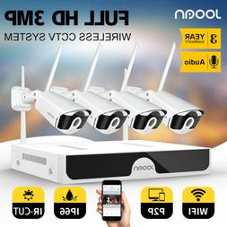 Full HD 8CH 1296P Wireless NVR Outdoor indoor WIFI Camera CC