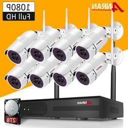 8CH Wireless Security Camera System 1080P Outdoor with 1TB H