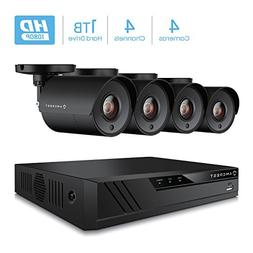 Amcrest ProHD 1080P 4CH Video Home Security Camera System wi
