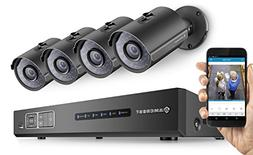 Amcrest ProHD 720P 4CH Video Security System - Four 1.0-Mega