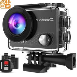 Crosstour 4K Action Camera 16MP WiFi Underwater Cam 30M Wate