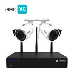 Defender 2K  Wireless 4 Channel 1TB Security System with 2 W