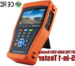 HDView 5-in-1 Touchscreen POE CCTV Tester for IP/AHD/CVI/TVI