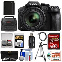 Panasonic Lumix DMC-FZ300 4K Wi-Fi Digital Camera with 64GB