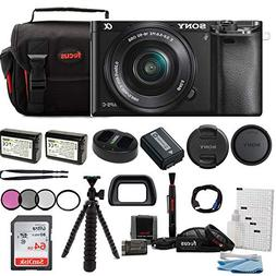 Sony Alpha ILCE-6000L/B a6000 Digital Camera with 16-50mm Le