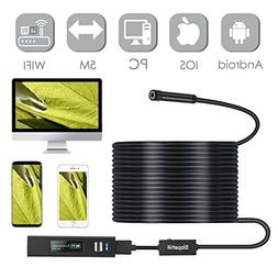 Wireless Endoscope for Android and iPhone, Slopehill WiFi Bo