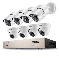 ZOSI Security Camera System 8 Channel FULL 1080P HD-TVI CCTV