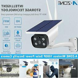 A-ZONE 1080P Solar Powered Camera Wireless IP Network CCTV H